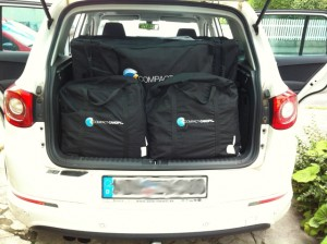 Faltzelt Compact Canopy quer in SUV