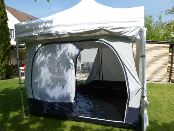 innenzelt f r faltzelt camping im faltzelt. Black Bedroom Furniture Sets. Home Design Ideas