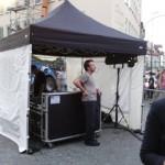 Faltzelt für Tontechnik