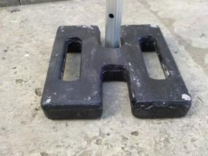 Stahlgewicht für Faltzelt