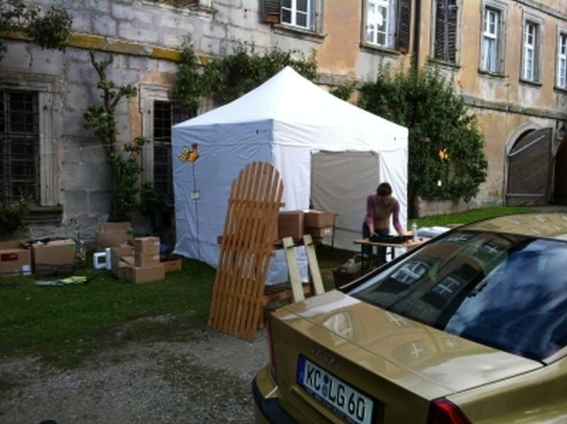 Faltpavillon als Marktzelt