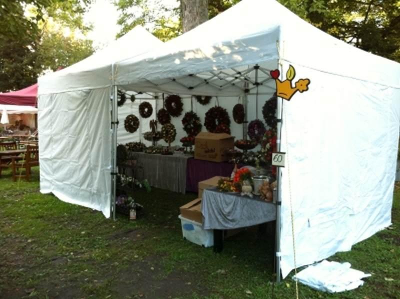Faltzelt für Kunsthandwerkermarkt