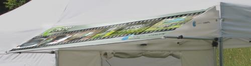 Faltzelt Compact Canopy Markise bedruckt close