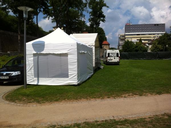 Faltpavillon mieten in Schweinfurt