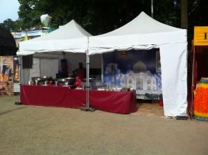 Miet-Faltzelt in Coburg Sambafestival 2013
