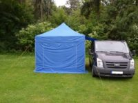 Faltzelt als Vorzelt für Camper