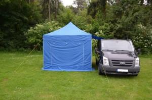 Faltzelt als Vorzelt für Campingbus