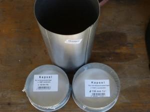 Faltzelt Gewicht aus Ofenrohr