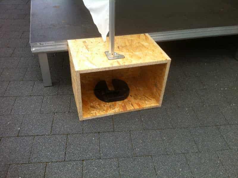 Kiste für Bühnenzelt