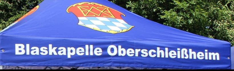 Faltzelt Druck Blaskapelle Oberschleißheim