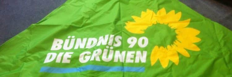 Faltzelt Druck die Grünen