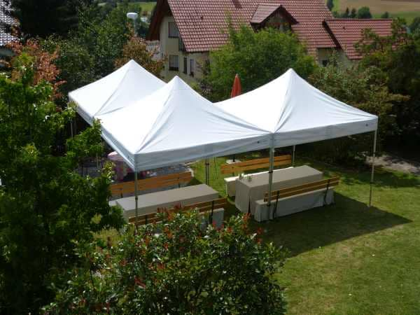 Faltpavillon Gartenparty
