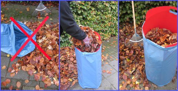 Müllbeutelhalter für Garten